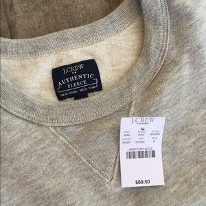NWT J.Crew gray small fleece sweatshirt